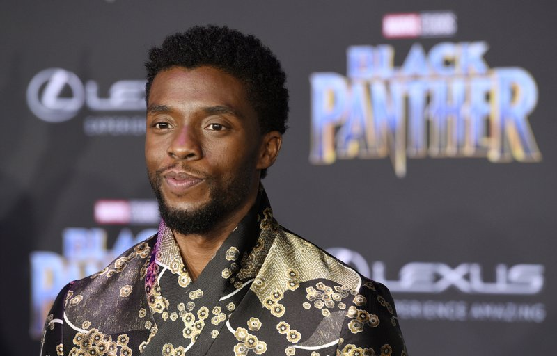 "Chadwick Boseman at ""Black Panther"" movie premiere. Photo credits Chris Piizello"
