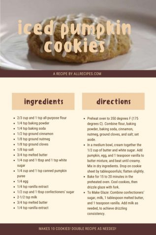 """A recipe for """"iced pumpkin cookies"""". Photo by Novalea Verno"""