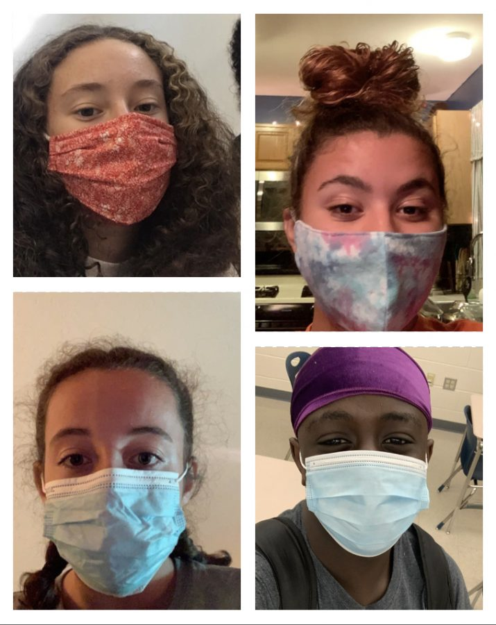 Many+different+masks+are+worn+daily%2C+but+they+all+have+one+goal%3A+to+keep+everyone+healthy.+Bella+Chimienti+%28top+left%29%2C+MaKenna+Conway+%28bottom+left%29%2C+Clarissa+Davis+%28top+right%29+Ulonnam+Ukattah+%28bottom+right.%29%0APhoto+by%3A+Jadeyn+Higgins%0A