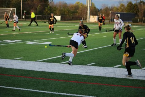 Senior Julianna Mariano (#14) plays against Red Lion. Photo by Steve Milwicz.