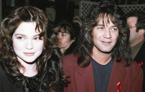 Rocker Eddie Van Halen is shown with then-wife Valerie Bertinelli in Los Angeles, Jan. 13, 1993. Photo by ASSOCIATED PRESS.