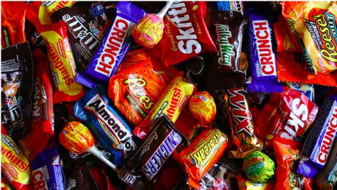 An assortment of popular Halloween candy. Photo by Hilltop Times.