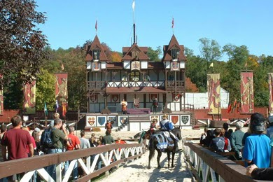 One of the many stages within the Pennsylvania Renaissance Faire in Manheim, PA Photo by PA Renaissance Faire