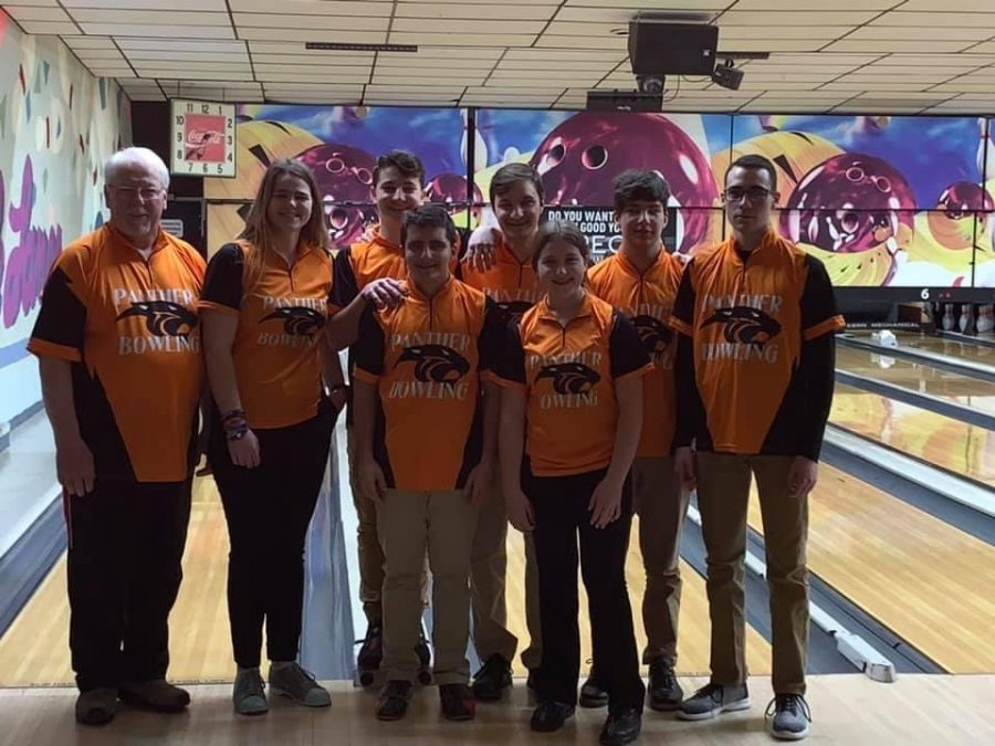 Last year's Central Highschool bowling team had seven athletes and are looking to grow this year.  From left to right Coach Charlie Earnst, Ally Sipe, Daegan Gotwalt, Matthew Guadagnino, Max Minnich, Spencer Brodbeck, David Trimbur, and Madison Brenneman. Submitted Photo