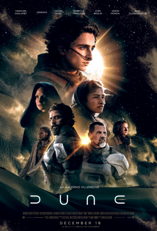 Movie poster for upcoming Sci-fi release, Dune.
